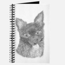 Cute Long haired chihuahua Journal