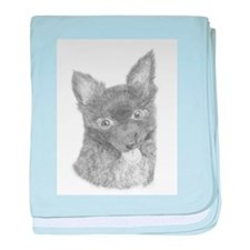 Cute Long haired chihuahua baby blanket