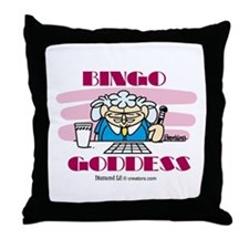 Bingo Goddess Throw Pillow