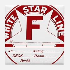 White Star Line Luggage Tag- No Name Tile Coaster