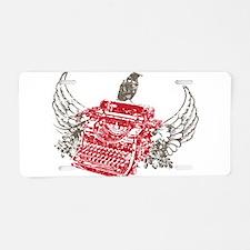 Writer Aluminum License Plate