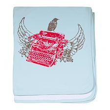 Writer baby blanket