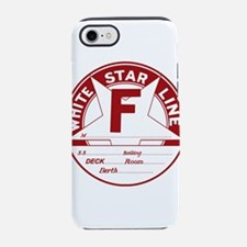 White Star Line Luggage Tag- N iPhone 7 Tough Case