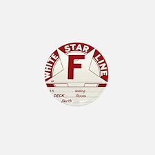 White Star Line Luggage Tag- No Name Mini Button