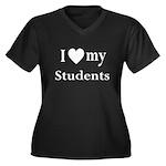 My Students: Women's Plus Size V-Neck Dark T-Shirt