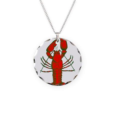 Crawfish Necklace Circle Charm