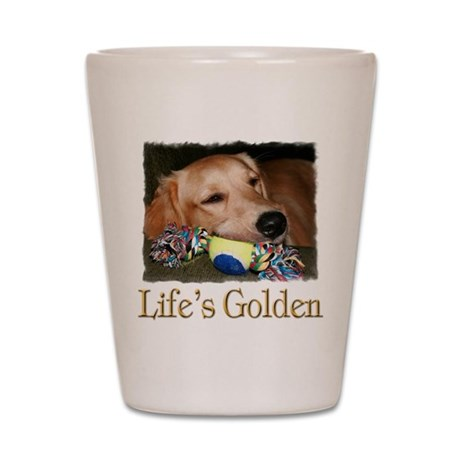 Life's Golden Shot Glass