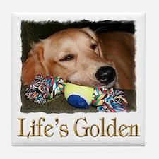 Life's Golden Tile Coaster