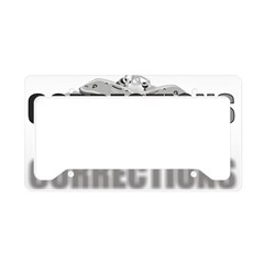 CORRECTIONS License Plate Holder
