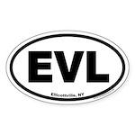 Ellicottville New York EVL Euro Oval Sticker
