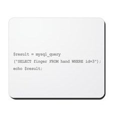 The sql middle finger Mousepad