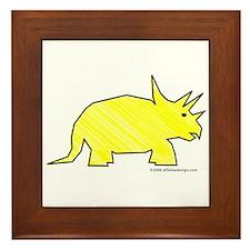 When Triceratops Ruled! Framed Tile