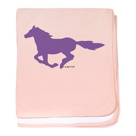 Horse (P) baby blanket