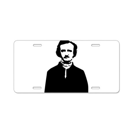 Edgar Allan Poe Aluminum License Plate