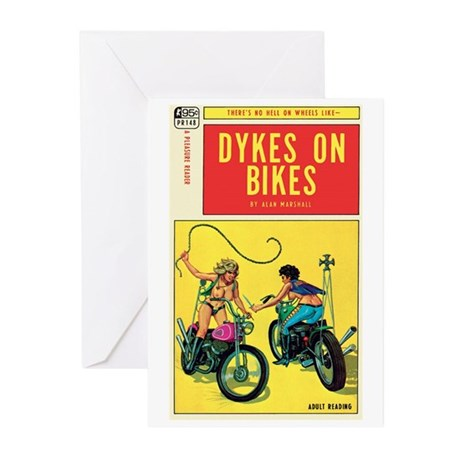 "Greeting (10)-""Dykes On Bikes"""
