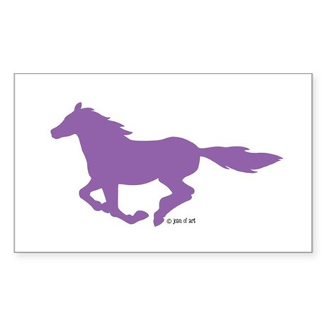 Horse (P) Sticker (Rectangle)