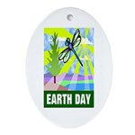 Earthday Oval Ornament