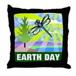 Earthday Throw Pillow