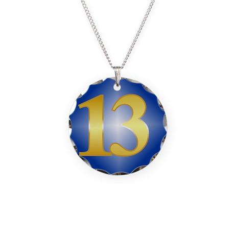 13 Year NA Birthday Necklace Circle Charm