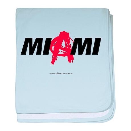 Miami Anarchy baby blanket