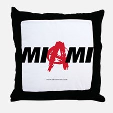 Miami Anarchy Throw Pillow
