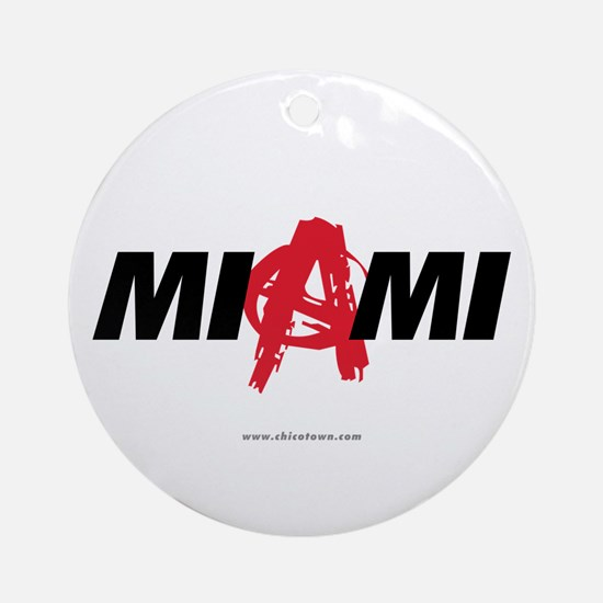 Miami Anarchy Ornament (Round)