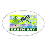 Earthday Oval Sticker