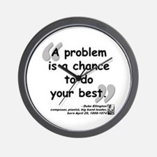 Ellington Best Quote Wall Clock