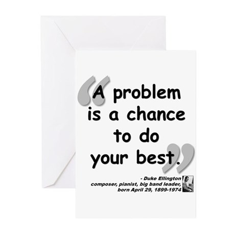 Ellington Best Quote Greeting Cards (Pk of 10)