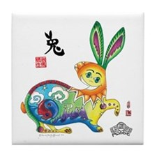 Moongate Year of the Rabbit Tile Coaster