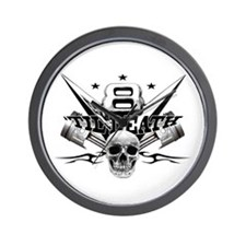 V8 'til death Wall Clock