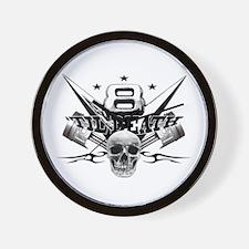 V8 'til death Wall Clock