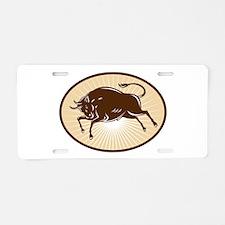 Texas Longhorn Bull Aluminum License Plate