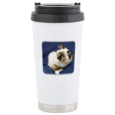 Ragdoll Cat 9W082D-011 Stainless Steel Travel Mug