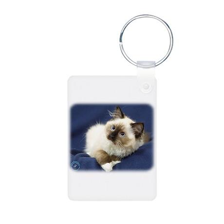 Ragdoll Cat 9W082D-011 Aluminum Photo Keychain