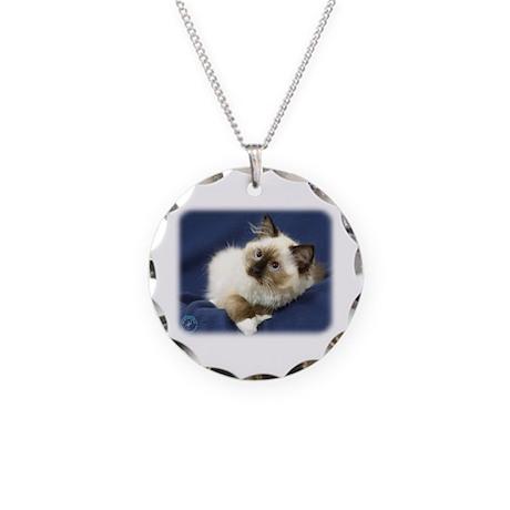 Ragdoll Cat 9W082D-011 Necklace Circle Charm