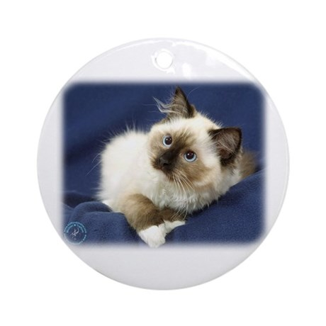 Ragdoll Cat 9W082D-011 Ornament (Round)