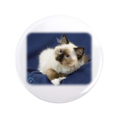 """Ragdoll Cat 9W082D-011 3.5"""" Button (100 pack)"""