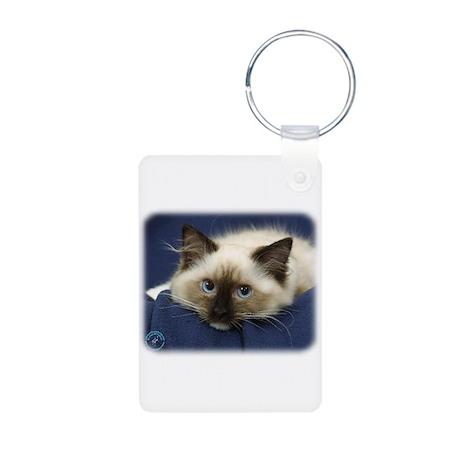 Ragdoll Cat 9W082D-020 Aluminum Photo Keychain