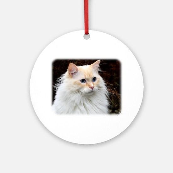 Ragdoll Cat 9W082D-020 Ornament (Round)