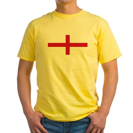 England St George's Cross Flag Yellow T-Shirt