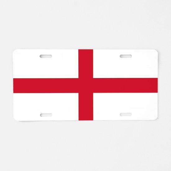 England St George's Cross Flag Aluminum License Pl