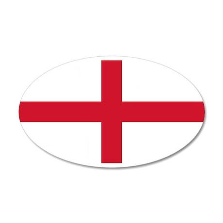 England St George's Cross Flag 22x14 Oval Wall Pee
