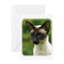 Siamese Cat 9W027D-133 Greeting Card