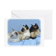 Siamese Cat 9W055D-074 Greeting Card