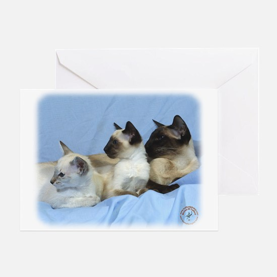 Siamese Cat 9W055D-074 Greeting Card