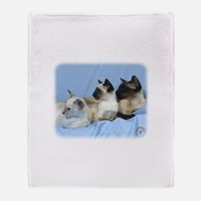 Siamese Cat 9W055D-074 Throw Blanket