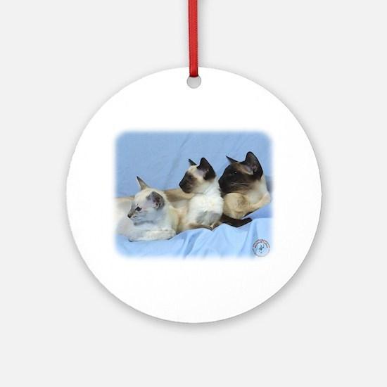 Siamese Cat 9W055D-074 Ornament (Round)