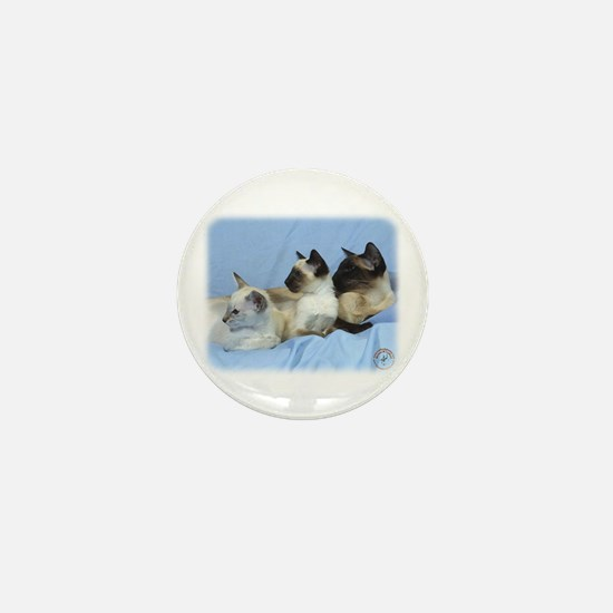 Siamese Cat 9W055D-074 Mini Button