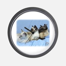 Siamese Cat 9W055D-074 Wall Clock